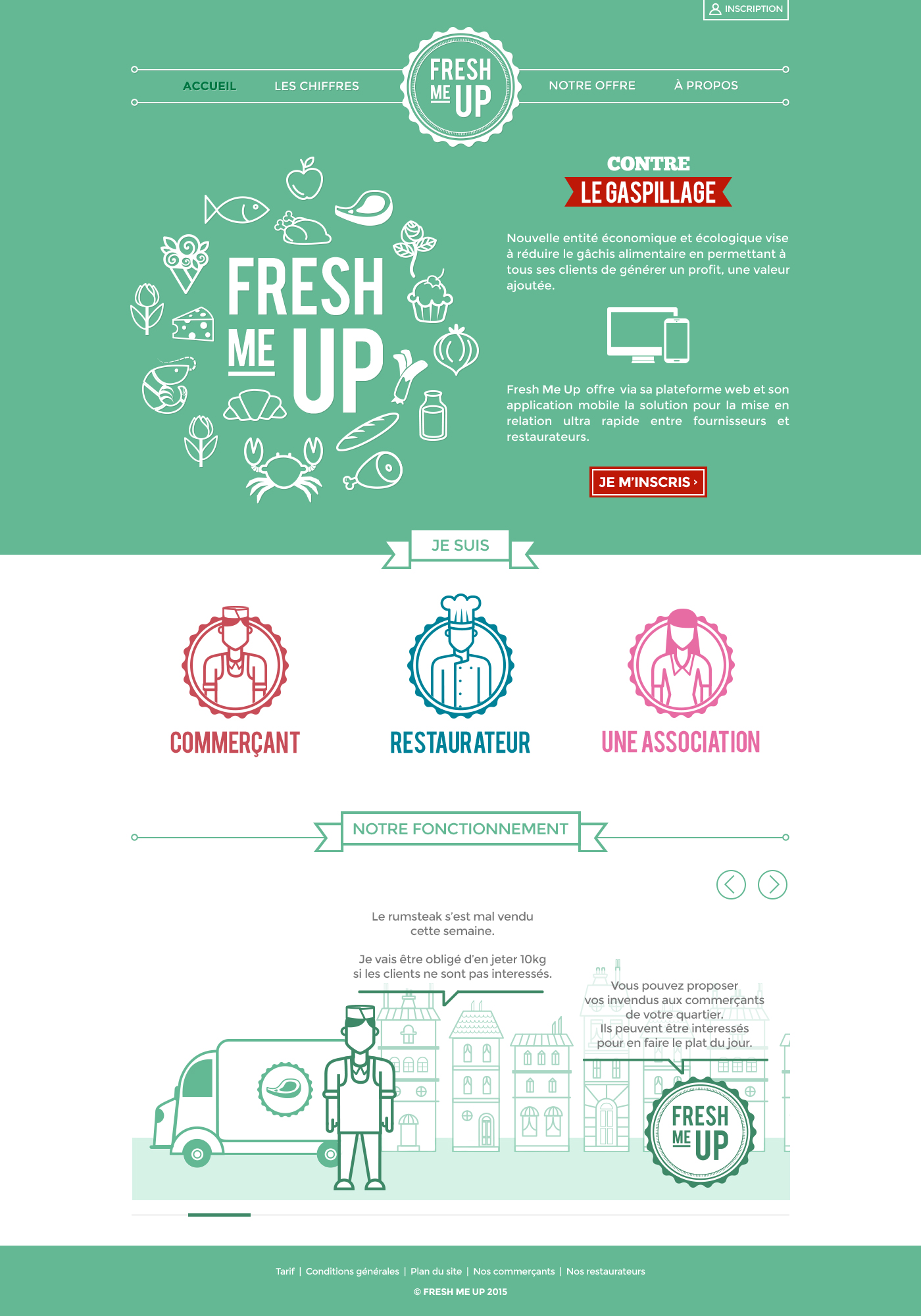 Fresh Me Up - Page d'accueil